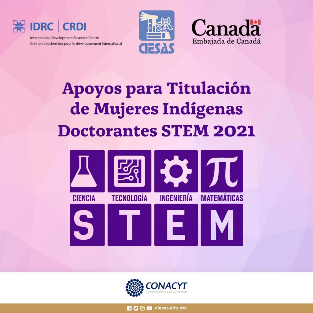 Apoyos para Titulación de Mujeres Indígenas Doctorantes STEM 2021
