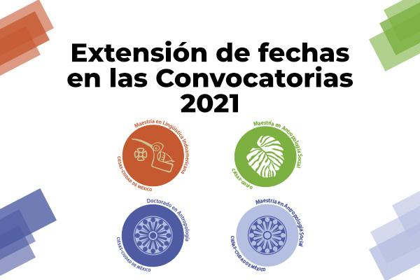 Nuevas fechas para las Convocatorias 2021