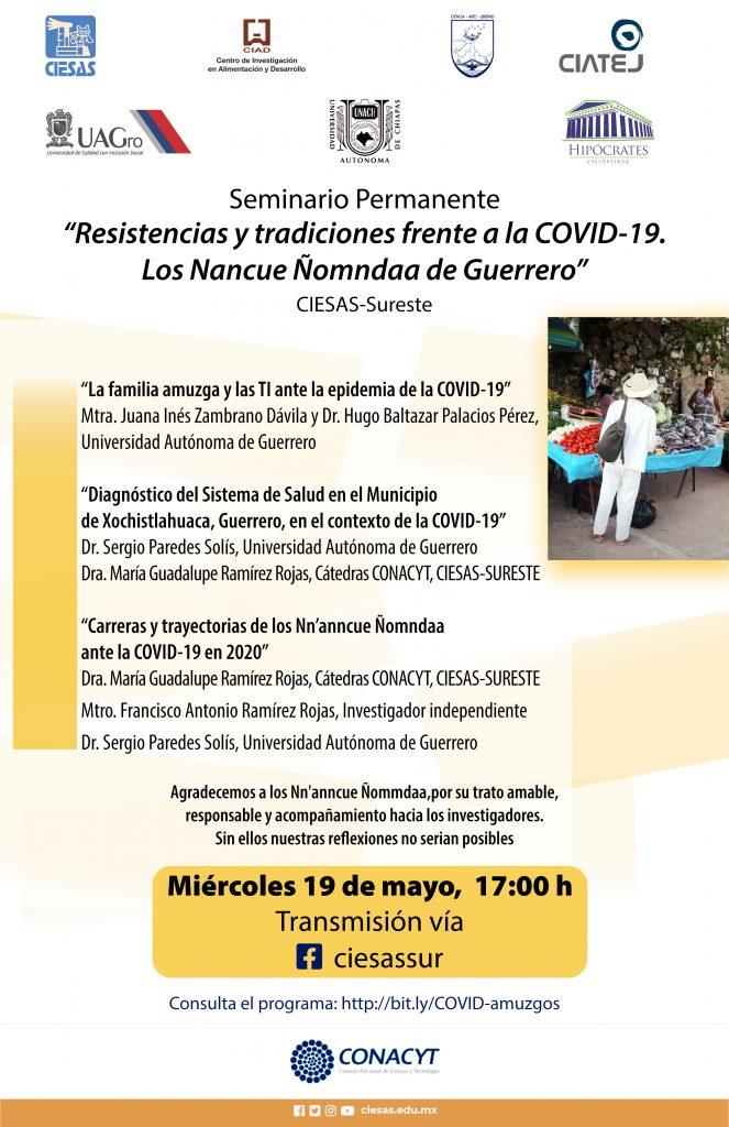 Cartel Resistencias y tradiciones frente a Covid 19 sesión 2