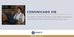 Convocatoria Conacyt SNI 2021